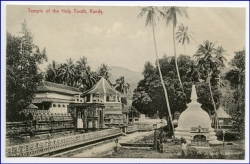 Ceylon, Sri Lanka, Kandy, Temple of holy Tooth, um 1910