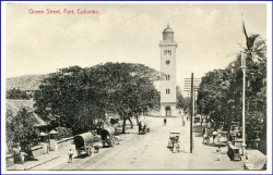 Ceylon, Sri Lanka, Colombo, Queen Street, Fort, um 1910