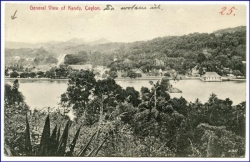 Ceylon, Sri Lanka, Kandy, General View, gel. 1912