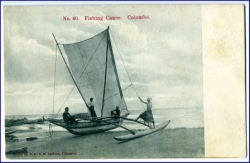 Ceylon, Colombo, Fishing Canoe, um 1910
