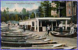 Macatawa Park, Mich., Boat Livery, gel. 1910