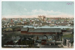 Albany, View from Rensselair, NY, 1912