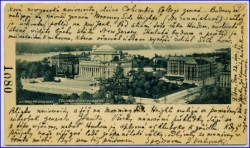 New York, Columbia University, gel. 1901, Privat Mailing Card --