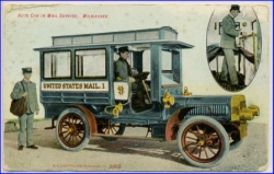 Milwaukee, Anto Car in Mail Service, gel. 1909 --
