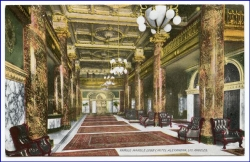 Los Angeles, Hotel Alexandria, Famous Marble Lobby, um 1900
