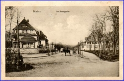 Mainz, Am Rosengarten, gel. 1915