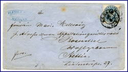Berlin, alter Brief m Stempel Berlin v. 1877