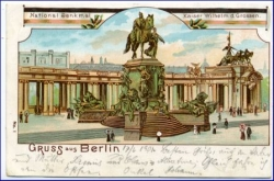 Berlin, National-Denkmal, gel. 1901 --