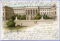 Berlin, Universität, Lithograife, gel. 1901 --
