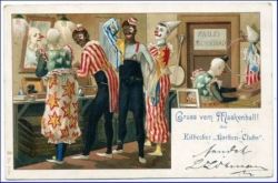 Hamburg, Eilbeck, Maskenball, Clowns, gel. 1901