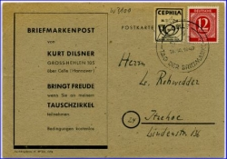 Celle, CEPHILA, Tag d. Briefmarke 1947 --