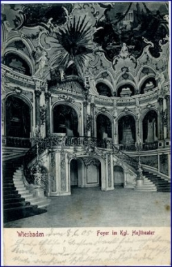 Wiesbaden, Foyer d. Kgl. Hoftheaters, gel. 1905
