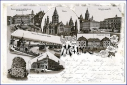 Mainz, Lithografie, gel. 1896