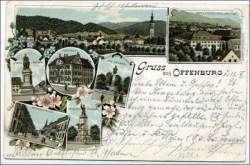 W7600 Offenburg, Lithografie, gel. 1896