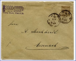 W7900 Ulm, Brief, Privatganzsache m. Stempel v. 1891 --