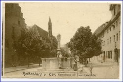 W8803 Rothenburg o.T., Herrenstraße, um 1900