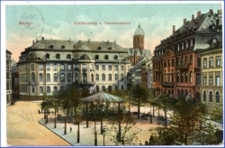 Mainz, Schillerplatz u. Gouvernement, gel. 1913